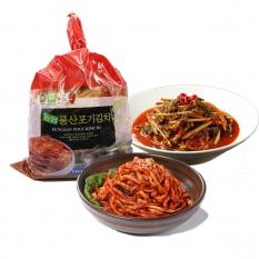 포기김치2.5kg+ 열무김치500g + 무말랭이250g